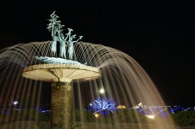 カナールと大噴水のライトアップ(1)
