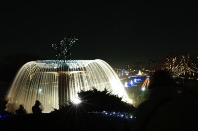 カナールと大噴水のライトアップ(2)