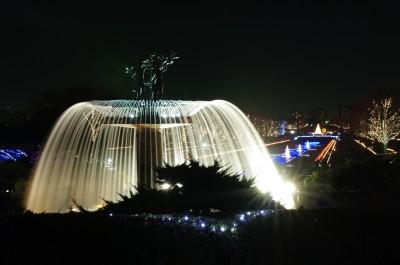 カナールと大噴水のライトアップ(3)