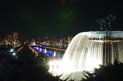 カナールと大噴水のライトアップ(4)