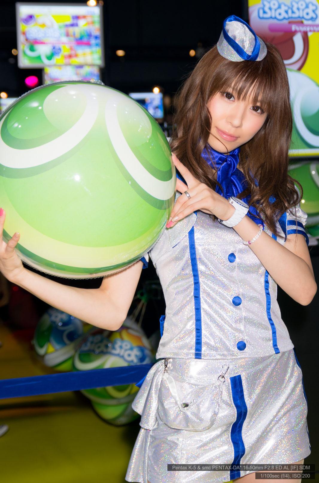 菊原藍子さん@東京ゲームショウ2013 | PENTAX K-5&DA★16-50mm&AF540FGZ