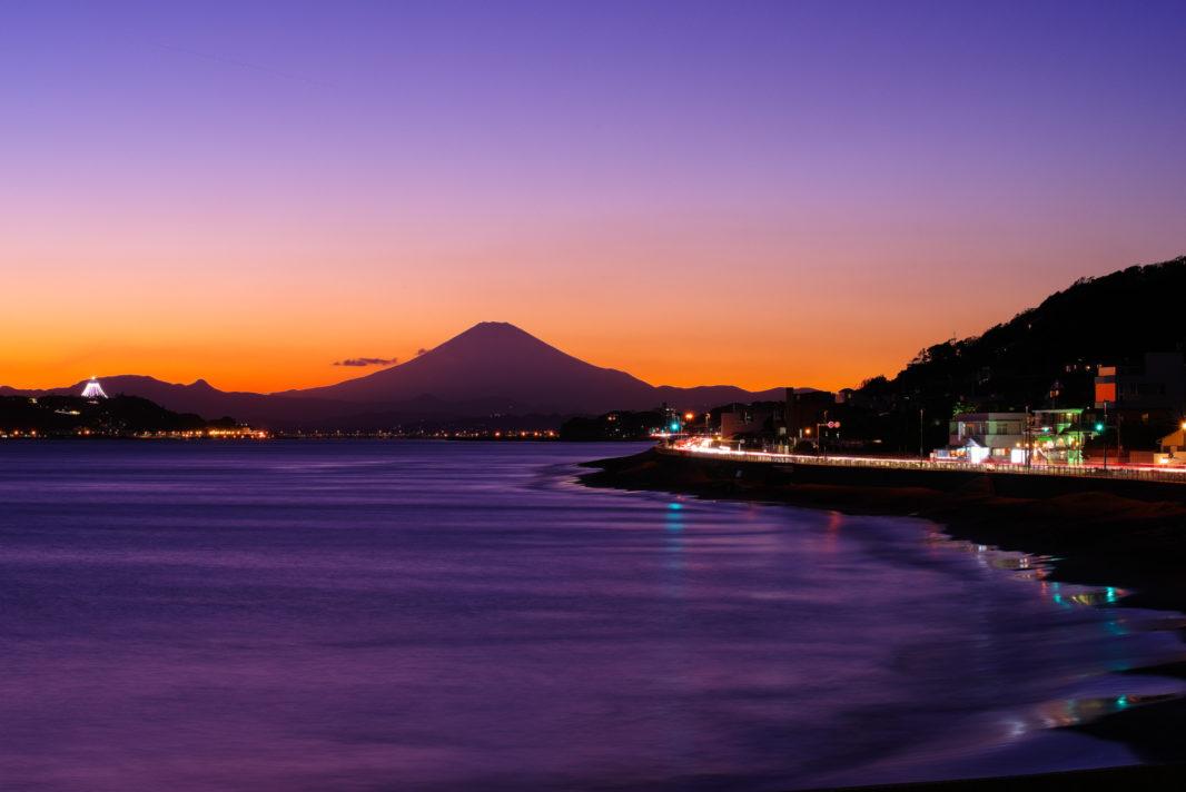 稲村ヶ崎公園より富士山と江ノ島 | PENTAX K-1&D FA★70-200mm