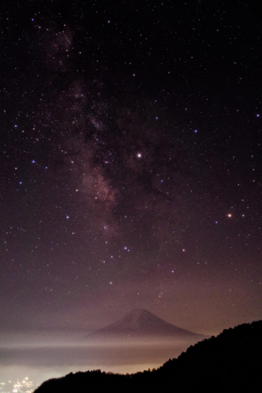 三ツ峠山より富士山と星空 | PENTAX K-1&FA★28-70mm