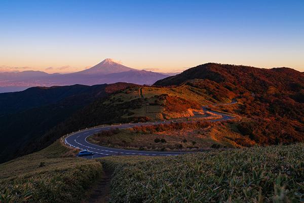 西伊豆スカイラインより富士山