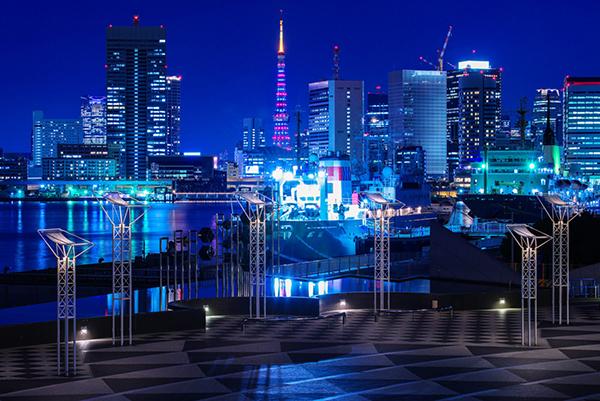 晴海ふ頭より東京タワー