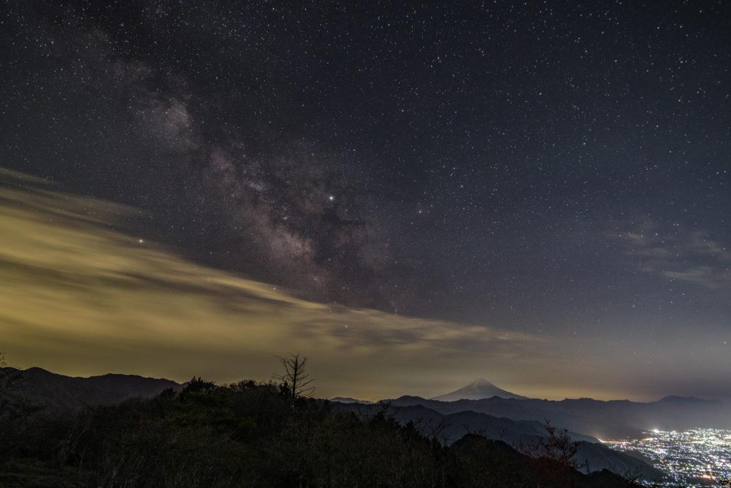 ハンゼノ頭にて富士山と天の川   PENTAX K-1&D FA15-30mm